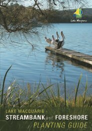 Lake Macquarie Streambank and Foreshore Planting Guide