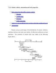 Seismic velocity and rock properties