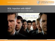 SQL Injection with ABAP - Virtual Forge