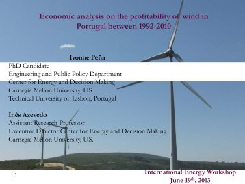 Economic Analysis on the Profitability of Wind in Portugal between ...