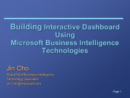 Building Interactive Dashboard Using Microsoft Business ...