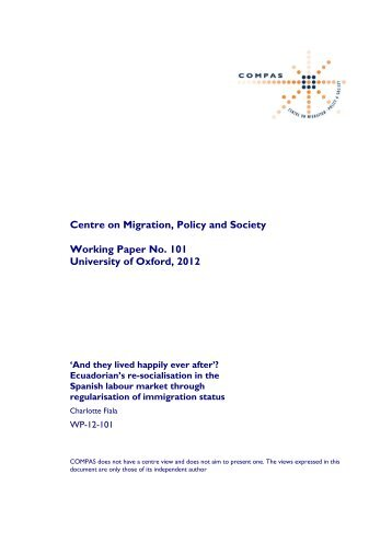 WP-12-101 - COMPAS - University of Oxford