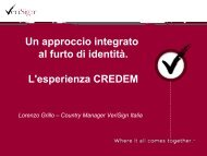 + Un approccio integrato al furto di identità - Clusit