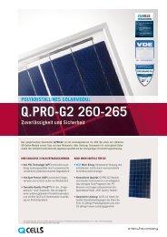 Q.PRO-G2 260-265 Zuverlässigkeit und Sicherheit ... - Enerix