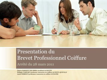 Diaporama BP coiffure - SBSSA Académie de Rouen