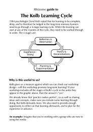 The Kolb Learning Cycle - Rhizome