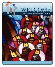 The Celebration of Worship - Westminster Presbyterian Church