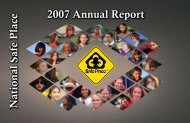 2007 Annual Report National Safe Place