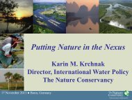 Karin Krchnak The Nature Conservancy - The Water, Energy and ...