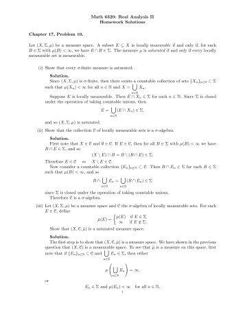 analysis homework solutions