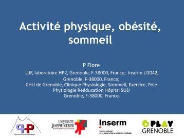 Activité physique, obésité, sommeil