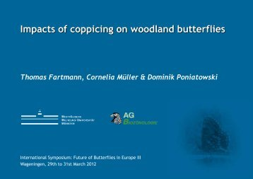 Impacts of coppicing on woodland butterflies - Vlindernet