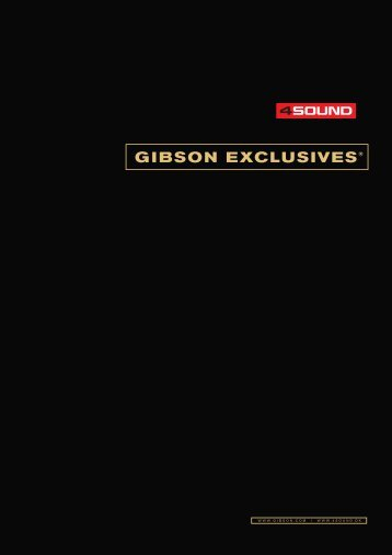 gibson exclusives - 4Sound
