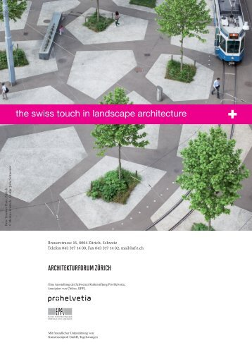Einladungskarte / PDF - Architekturforum Zürich