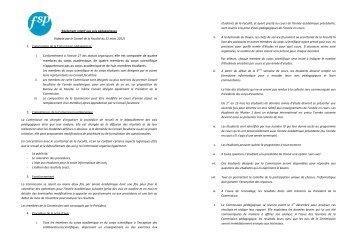 Règlement relatif aux avis pédagogiques-PL