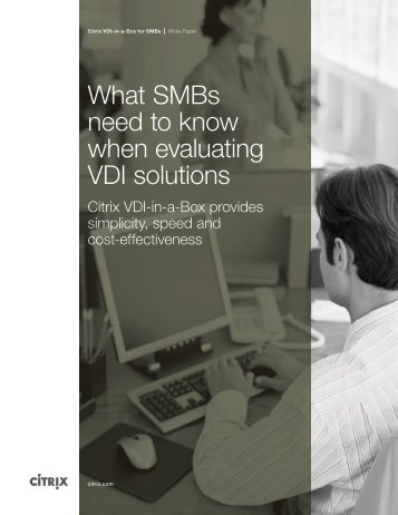 What SMBs need to know when evaluating VDI solutions - Vitalize ...