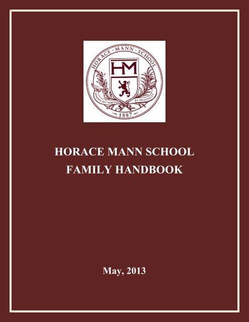 HORACE MANN SCHOOL FAMILY HANDBOOK