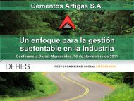 Artigas_Sustentabilidad_DERES 2011_Final