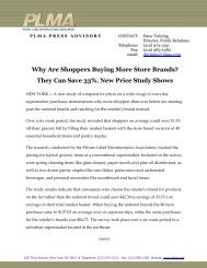 Why Are Shoppers Buying More Store Brands? They Can ... - PLMA