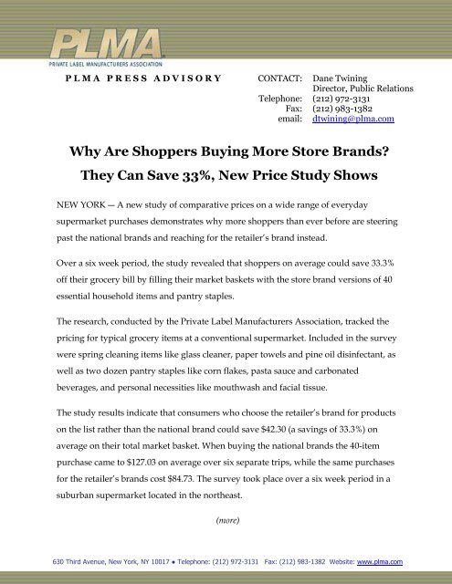 Why Are Shoppers Buying More Store Brands? They Can     - PLMA