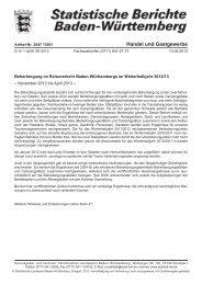 G IV 1 hj/Wi 2012/13 Beherbergung im Reiseverkehr Baden ...