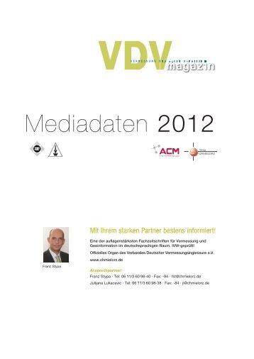 Mediadaten 2012 - Verlag Chmielorz Gmbh