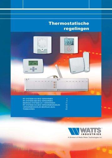 Thermostatische regelingen - Watts Industries Netherlands B.V.