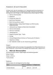 Protokoll der GV 2013 - Jtri