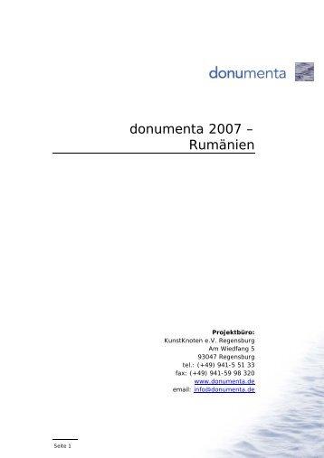 donumenta 2007 – Rumänien