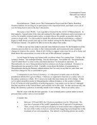 1 Commutation Forum Harvard Law School May 16, 2012 Good ...