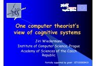 One computer theorist's view of cognitive systems - David Vernon