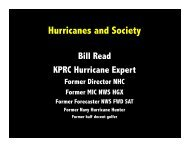 Tropical cyclones and society
