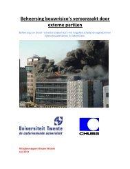 Beheersing bouwrisico's veroorzaakt door externe partijen
