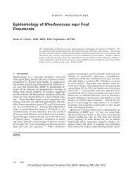 Epidemiology of Rhodococcus equi Foal Pneumonia. In - Phenix-Vet
