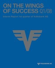 Interim Report 1st quarter 2008 - Volksbank AG