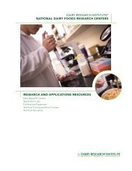 dairy research institute® national dairy foods research centers