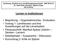 Lernen in Institutionen