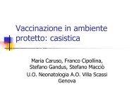 Vaccinazione in ambiente protetto: casistica
