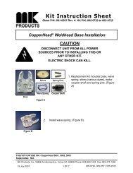 CopperHead Base Installation - KI 091-0587A - MK Products