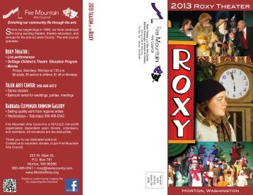 2013 Theater Season Brochure - Roxy Theater