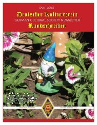 Kindergarten - German Cultural Society