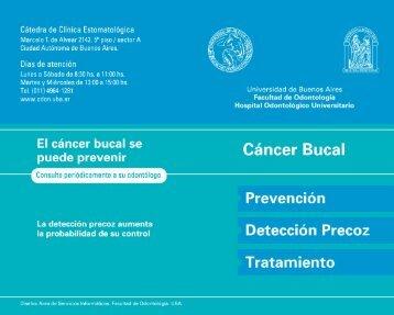 Cáncer Bucal - Facultad de Odontología - Universidad de Buenos ...