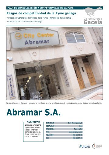 Reportaje: VIAJES ABRA-MAR, S.A.: Empresa Gacela - Ardan
