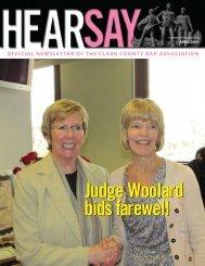 Judge Woolard bids farewell - Clark County Bar Association