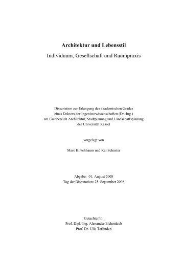 Architektur und Lebensstil - KOBRA - Universität Kassel