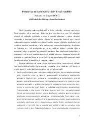 Požadavky na školní vzdělávání v České republice (Národní zpráva ...