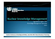 Nuclear Knowledge Management - Agenda Wissen