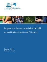 SCP 2012_JK_FR.indd - IIEP - Unesco