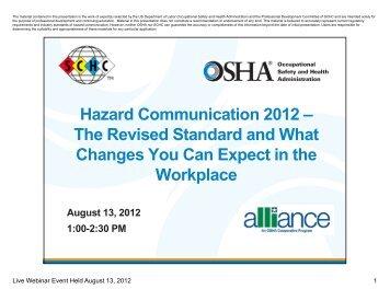 The Globally Harmonized System Ghs For Hazard Issa Com