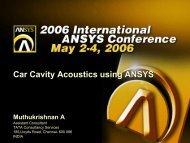 Car Cavity Acoustics Using ANSYS Car Cavity Acoustics